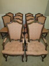 VINTAGE AUFFRAY & CO FRENCH WALNUT DINING CHAIRS, SET OF 12, ORIG $18k