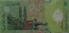 RM5 Zeti sign Polymer First Prefix Note CA 4482156