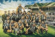 COLLINGWOOD MAGPIES TEAM OF THE CENTURY PRINT OFFICIAL JAMIE COOPER SIGNED