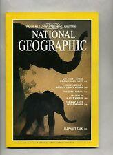 National Geographic-August 1989 Black Woman-Elephant Talk ! Alasks Old Havana