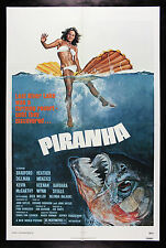 PIRANHA * CineMasterpieces ORIGINAL HORROR FISH JAWS OCEAN SEA MOVIE POSTER 1978