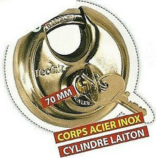 CADENAS A ANSE 70MM ESCAMOTABLE ANTIVOL SERRURE 428P907
