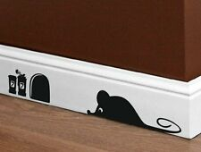 Designer - Lovely Mouse and Mouse Hole - Wall / Car / Laptop Wall Stickers. New!