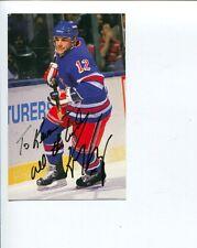 Kris King NY New York Rangers Winnipeg Jets Captain Signed Autograph Photo