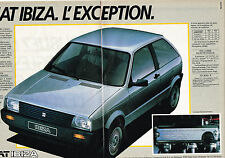 PUBLICITE ADVERTISING  1984   SEAT  IBIZA  (2 pages)