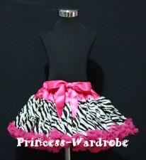 Hot Pink Zebra Pettiskirt Petti Skirt Pageant Dance Tutu For Teen Adult 8-10Y