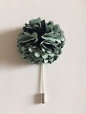 Egg/black Flower Bn Free Uk P&P Corsage Brooch Hat Pin In Duck