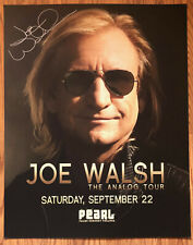 Joe Walsh Show Poster Signed In Person 2012
