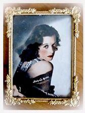 Antique 1940's HEDY LAMAR 5 x 7 In Ornate Goldtone FRAME