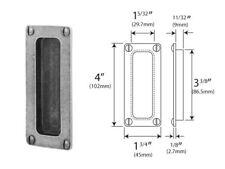 4 X Finesse Genuine Pewter Pocket Door Flush Pull Handles PDFP001