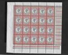 GB Pane of 20 QV 1892 4.1/2d Green & Carmine Sg206 ULTRA RARE Unmounted Mint MNH