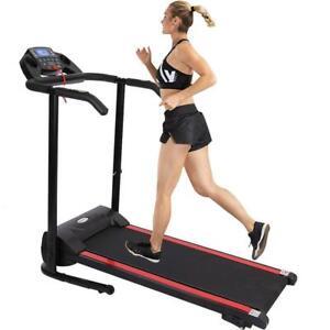 Folding Electric Power Treadmill Walking Fitness Machine Shock Absorpti Home GYM