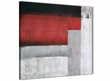 Red Grey Painting Kitchen Canvas Pictures Decorations - Abstract 1s428m - 64cm