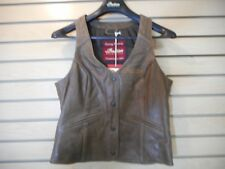 New Genuine OEM Indian Motorcycle Womens Brown Leather Vest-XL,X-Large 286370809