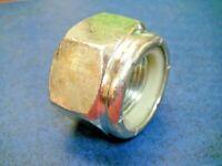 """J806-18FP Heavy Duty Steel 1-1/8"""" 12 Hex Nylon Lock Nut 12-TPI UNF"""