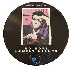"""Paul McCartney - No More Lonely Nights (extended version) 12"""" vinyl picture disc"""