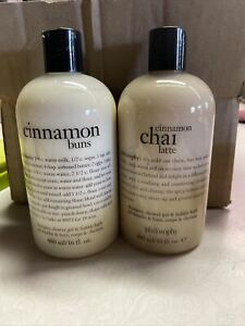 Philosophy Cinnamon Buns & Chai Latte 3-1 Bath and Shower Gel 16 oz NEW!!!