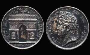 Médaille ARC DE TRIOMPHE 1836 / LOUIS PHILIPPE - FRANCE - argent / silver medal