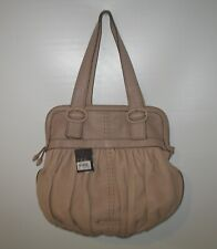 """COLE HAAN NWT """"VILLAGE"""" ROUCHED SOFT PINK LEATHER SATCHEL"""