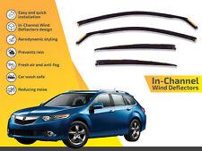 In channel wind deflectors rain guards for Acura Tsx Sport Wagon 2011-2014 4pc