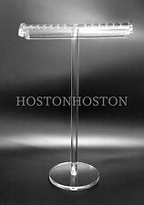 Luxury Tall Clear Acrylic Necklace Pendants Jewellery T Bar Display Stand Holde