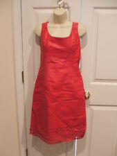 NWT $229 NEWPORT NEWS BERRY FULLY LINED ALL LEATHER DRESS-  SLEEVELESS SIZE 8