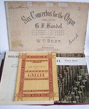 Vintage Classique sheet music-plusieurs-Handel etc-Support/Sac-NOTES/pics