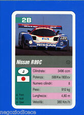 [GCG] SUPERCARTINE - SCHMID - Figurina-Sticker n. 2B - NISSAN R 89C