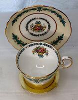 Aynsley Cambridge 7818 Bone China Demitasse Blue Floral Tea Cup & Saucer
