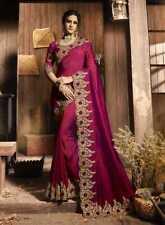 Saree Indian Sari Blouse Bollywood Wedding Style Traditional Women Designer Wear
