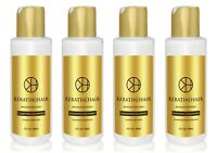 KERATIN FOR HAIR FORMOL FREE SMOOTHING BLOW OUT SILKY STRAIGHT 4 PIECE KIT 4 OZ