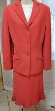 Le Suit Ladies Burnt Orange Skirt Suit - Size 8