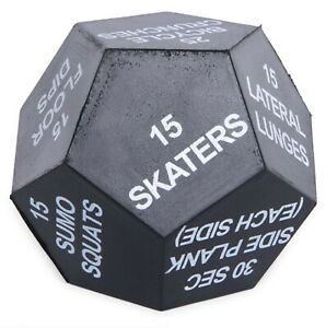 Series 8 Fitness 12-Sided LARGE FOAM Exercise Dice - White NEW - FREE SHIPPING