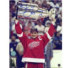 Steve Yzerman Detroit Red Wings 8X10 1998 de la Copa Stanley Firmado Foto