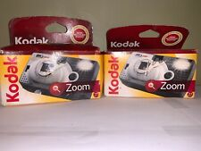 Lot Of 2 New Instant Kodak Zoom 27 Exposure Flash One time Use Camera
