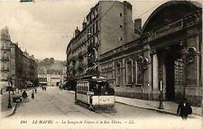 CPA LE HAVRE La Banque de France et la Rue Thiers (415958)