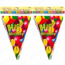 HAPPY BIRTHDAY FLAGS 12M Long BUNTING Large Party Banners Celebration /Garlands