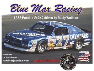SJR-15905 Salvinos, 1986 Pontiac 2+2, Rusty Wallace Blue Max Race Scale 1:24 NEW