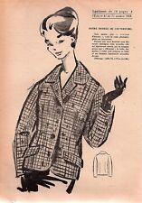 ▬► Patron Couture Écho de la Mode - 1959 N°41 - Taille 42 44 46 - Veste