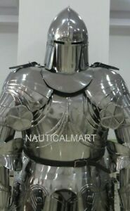 Medieval Knight Wearable Suit Of Armor Crusader Gothic Full Body Armour ZA07