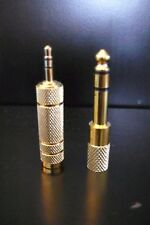Metal 2.5mm to 3.5mm & 3.5mm to 2.5mm M/F Stereo Jack Adapter Combo Gold Plated