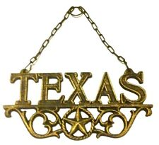 Texas Star Wall Hanging Rustic Old Fashioned Black and Gold New 10x4 1/2inch