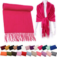 Winter Pashmina Warm Long Scarf Cape Scarves Wrap Stole Tassel Shawl Womens New