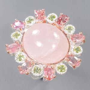 Fine Art SET Morganite Ring Silver 925 Sterling  Size 7 /R157807