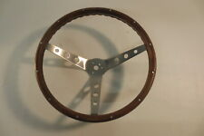 """Vintage Real Wood Steering Wheel 15"""" INCH By 4"""" Custom RAT HOT ROD Chevy Ford"""