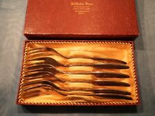 6 alte Kuchengabeln 15 cm  Silber