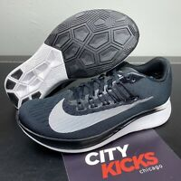 New Mens Nike Zoom Fly Running Shoes Black Anthracite White Sz 6 880848 001
