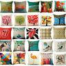 18'' Cotton linen Throw Pillow Cases Home Decorative Cushion Cover Square Pillow