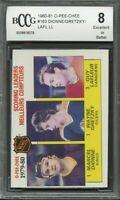 1980-81 o-pee-chee #163 WAYNE GRETZKY/DIONNE/GUY LAFLEUR leaders BGS BCCG 8