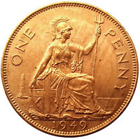 1949 PENNY OF KING GEORGE VI   /UNCIRCULATED /LUSTRE /aUNC #OKTE170